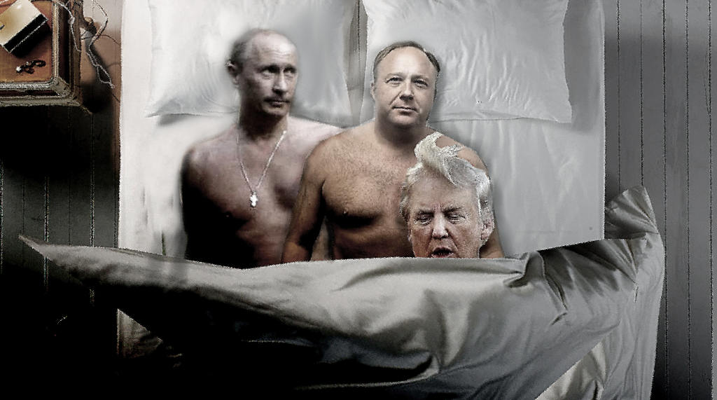 Putin, Alex Jones and Donald Trump's dirty secret exposed.